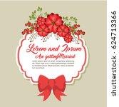 wedding invitation floral frame | Shutterstock .eps vector #624713366