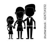 parents with daughter family... | Shutterstock .eps vector #624714152