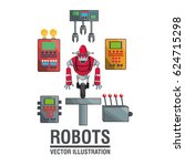 robots industry engineering... | Shutterstock .eps vector #624715298