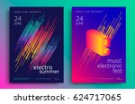 electronic music fest and... | Shutterstock .eps vector #624717065