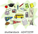 a collection of stylized... | Shutterstock . vector #62472259