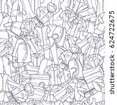 clothes pattern vector... | Shutterstock .eps vector #624722675