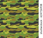 seamless camouflage pattern | Shutterstock .eps vector #624726938