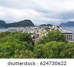aerial view of city  alesund ... | Shutterstock . vector #624730622