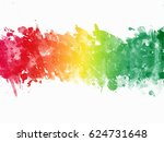 multicolor paint splatter...   Shutterstock . vector #624731648