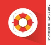 lifebuoy rescue protection... | Shutterstock .eps vector #624731852