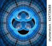 abstract fractal illustration...   Shutterstock . vector #624733688