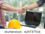 contractor and company... | Shutterstock . vector #624737516