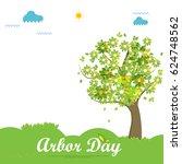 illustration of arbor day... | Shutterstock .eps vector #624748562