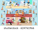cleaning company brochures with ... | Shutterstock .eps vector #624761966