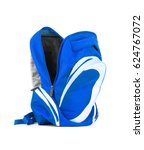 open backpack isolated on a... | Shutterstock . vector #624767072