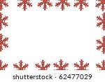 frame of snowflake | Shutterstock . vector #62477029