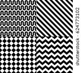 seamless abstract pattern set... | Shutterstock .eps vector #624773102