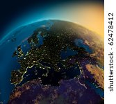night view of europe from the... | Shutterstock . vector #62478412