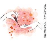 vector illustration of hands... | Shutterstock .eps vector #624784706
