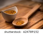 bee pollen detail on a spoon... | Shutterstock . vector #624789152