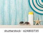 vacation beach holiday...   Shutterstock . vector #624803735
