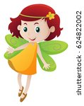 happy girl in fairy outfit | Shutterstock .eps vector #624822002