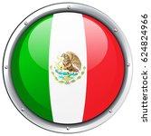 icon design for mexico flag... | Shutterstock .eps vector #624824966