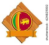 icon design for flag of sri... | Shutterstock .eps vector #624825002