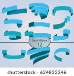 vector ribbons banners.... | Shutterstock .eps vector #624832346