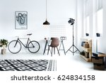 black and white hipster room... | Shutterstock . vector #624834158