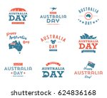 australia day icon design set   ...   Shutterstock .eps vector #624836168