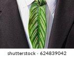 green businessman. a very green ... | Shutterstock . vector #624839042