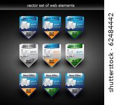 vector web elements with... | Shutterstock .eps vector #62484442