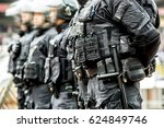 anti terrorist police observed... | Shutterstock . vector #624849746