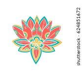 lotus flower symbol. vector art | Shutterstock .eps vector #624851672