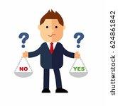 cartoon businessman  the... | Shutterstock .eps vector #624861842