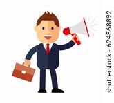 cartoon businessman with a... | Shutterstock .eps vector #624868892