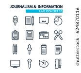 line journalistic icons... | Shutterstock .eps vector #624870116