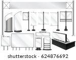 vector illustration. a set of... | Shutterstock .eps vector #624876692