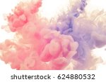 ink splashes in the water.... | Shutterstock . vector #624880532