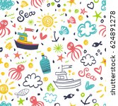 Seamless Summer Style Pattern...