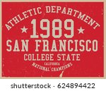 vintage varsity graphics and... | Shutterstock .eps vector #624894422