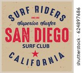 vintage surfing graphics and... | Shutterstock .eps vector #624897686