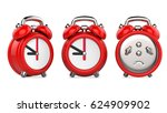 three views of carttom red... | Shutterstock . vector #624909902