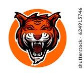 tiger head vector logo template | Shutterstock .eps vector #624915746