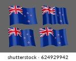 3d waving flag of new zealand.... | Shutterstock .eps vector #624929942