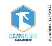 cleaning service logo with text ... | Shutterstock .eps vector #624934682