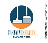 cleaning service logo with text ... | Shutterstock .eps vector #624934712