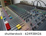 mixing console  of a big hifi... | Shutterstock . vector #624938426