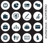 business icons set. collection... | Shutterstock .eps vector #624938582