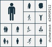 person icons set. collection of ... | Shutterstock .eps vector #624939212