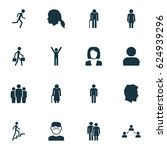 person icons set. collection of ... | Shutterstock .eps vector #624939296