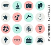season icons set. collection of ...   Shutterstock .eps vector #624941186