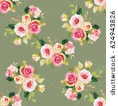 seamless floral pattern with... | Shutterstock .eps vector #624943826